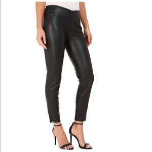 Free People Vegan Leather High Waist Legging Black